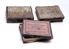 Photographic glass plates. Old photographic glass plates. Early 20th century stock photos