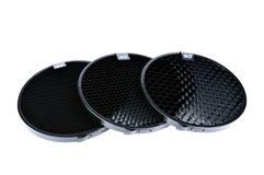 Photographic honeycombs on white background.  Stock Image