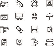 Photography icons Royalty Free Stock Photos