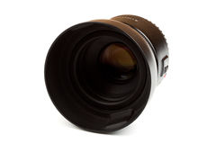 Photographic lens. On a white background Royalty Free Stock Photo