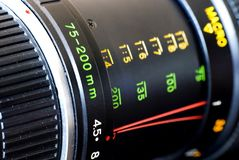 Photographic lens Stock Images