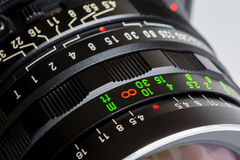 Photographic lens, equipped Royalty Free Stock Photos