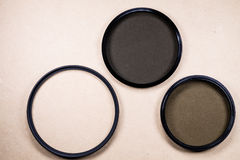 Photographic lens filter Stock Images