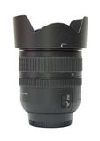 Photographic lens with hood Royalty Free Stock Photography