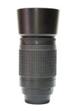 Photographic lens with hood. Professional photographic lens with hood Royalty Free Stock Image