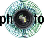 Photographic Lens illustration Stock Images