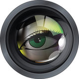 Photographic Lens illustration. Made in adobe illustrator Royalty Free Stock Images