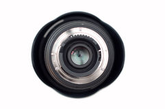 Photographic lens isolated on white Royalty Free Stock Images