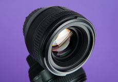 Photographic lens with a reflection Royalty Free Stock Photography