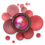 Photographic red background Stock Image