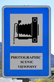 Photographic scenic viewpoint sign Stock Photo