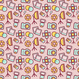 Photographic seamless pattern. Vector background. Stock Photos