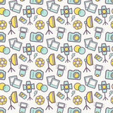 Photographic seamless pattern. Vector background. Stock Images