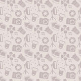 Photographic seamless pattern. Vector background. Royalty Free Stock Images