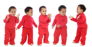 Photographic sequence of a baby Royalty Free Stock Photography