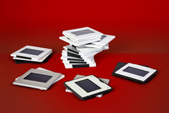 Photographic slide frames Stock Images