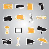Photographic stickers eps10. Set of color photographic stickers eps10 Stock Illustration