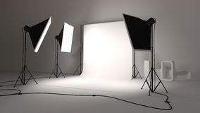 Photographic studio. An illustration of a photographic studio Royalty Free Stock Images