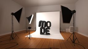 Photographic studio illustration Stock Photo
