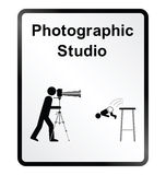 Photographic Studio Information Sign Stock Photo