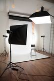 Photographic studio interior Royalty Free Stock Images