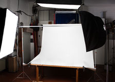 Photographic studio (with space for your object) Royalty Free Stock Photos