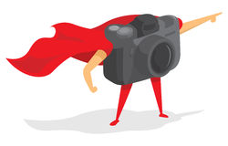 Photographic super hero camera with cape Stock Photography