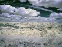 Photographie à infrarouge de montagne d'Ural du sud Images libres de droits