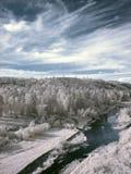 Photographie à infrarouge de montagne d'Ural du sud Photos stock