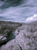 Photographie à infrarouge de montagne d'Ural du sud Photos libres de droits