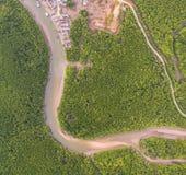 Photographie aérienne à l'interdiction Samchong Images stock