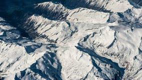 Photographie aérienne au-dessus des Alpes Image libre de droits