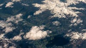 Photographie aérienne au-dessus des Alpes Image stock