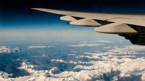 Photographie aérienne au-dessus des Alpes Photographie stock