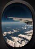 Photographie aérienne au-dessus des Alpes Images libres de droits