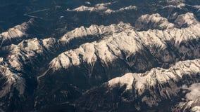 Photographie aérienne au-dessus des Alpes Photographie stock libre de droits