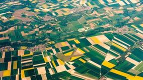 Photographie aérienne au-dessus des banlieues de Paris Image stock
