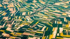 Photographie aérienne au-dessus des banlieues de Paris Photos libres de droits