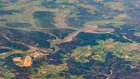 Photographie aérienne au-dessus des banlieues de Paris Photo libre de droits