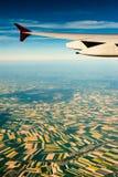 Photographie aérienne au-dessus des banlieues de Paris Image libre de droits