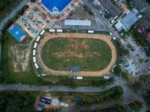 Photographie aérienne au stade de Saphan Hin Images stock