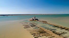Photographie aérienne de fort Louvois dans Charente maritime photos libres de droits