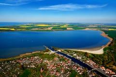 photographie aérienne de Greifswald Wieck en mer baltique Image libre de droits