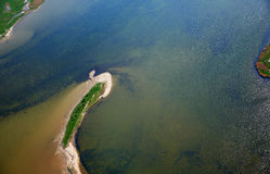 photographie aérienne de Koos en mer baltique Images libres de droits
