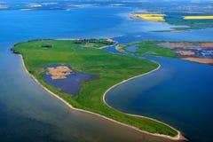 photographie aérienne de Koos en mer baltique Photographie stock libre de droits