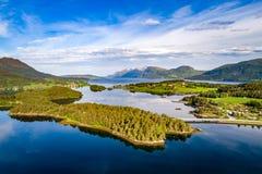 Photographie aérienne de la Norvège de belle nature Photographie stock libre de droits