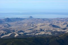 Photographie aérienne de roche de Morro - baie de approche de Morro, la Californie Image stock