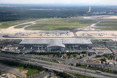 Photographie aérienne du terminal d'aéroport de Francfort 2 Photo stock