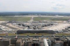 Photographie aérienne du terminal d'aéroport de Francfort 1 Photographie stock