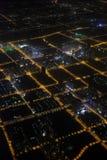 Photographie aérienne la nuit Photographie stock
